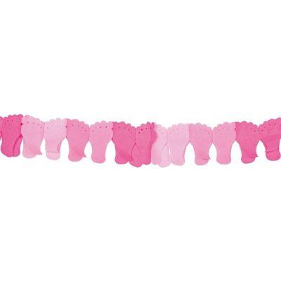 Foto van Papierenslinger voet roze 6mtr /1