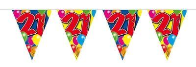 Vlaggenlijn balloons 21 jaar 10M