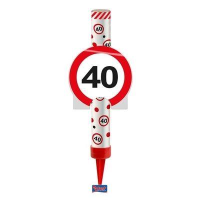 Foto van IJsfontein verkeersbord 40 jaar