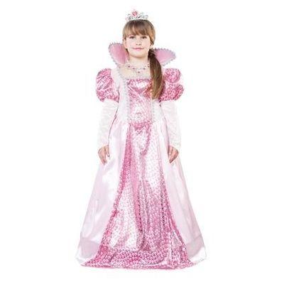 Roze koninginnen jurk kind