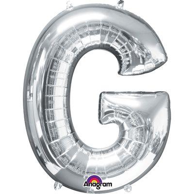 Foto van Folieballon letter G zilver 40cm