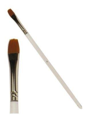Schmink penseel plat + ronde top mt. 8 mm breed (4)