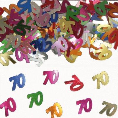 Tafel Confetti 70 jaar