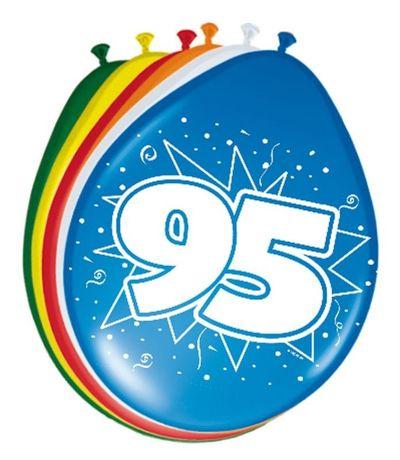 Ballonnen 95 jaar (30cm) 8st