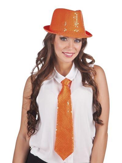 Stropdas Spangles orange 40cm
