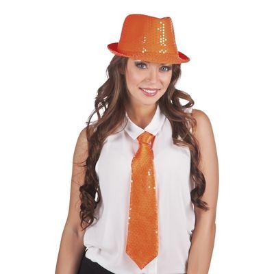 Foto van Stropdas Spangles orange 40cm
