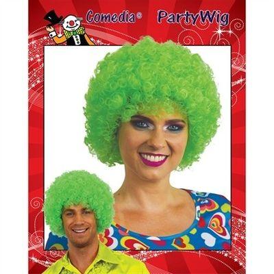 Afro pruik mini groen