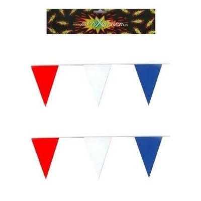 Foto van Vlaggenlijn rood/wit/blauw (10 meter)