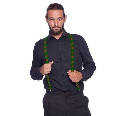 Groene kerst bretels