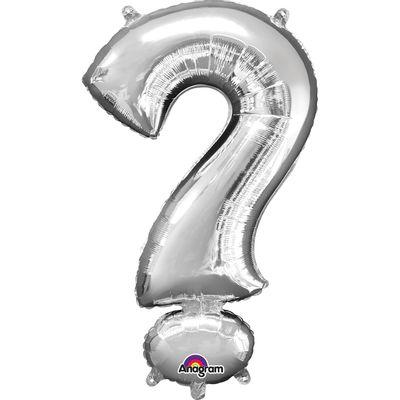 Folieballon vraagteken ? zilver