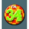 Afbeelding van Button 34 jaar