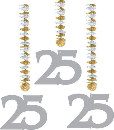 Hangdecoratie 25 Zilver/3