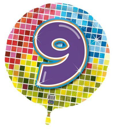 Folieballon leeftijd 9 jaar (43cm)