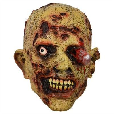 Masker zombie stalen pin in oog