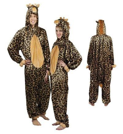 Onesie giraffe volwassenen