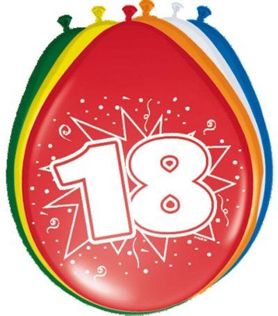 Ballonnen 18 jaar (30cm) 8st