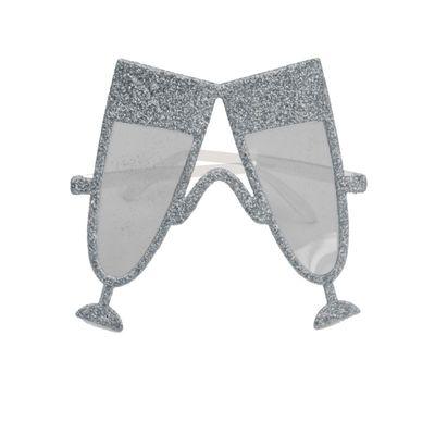 Bril Champagneglas Zilver/ stk
