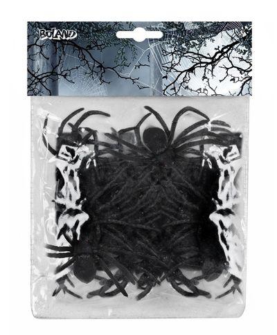 Zak met 12 spinnen zwart