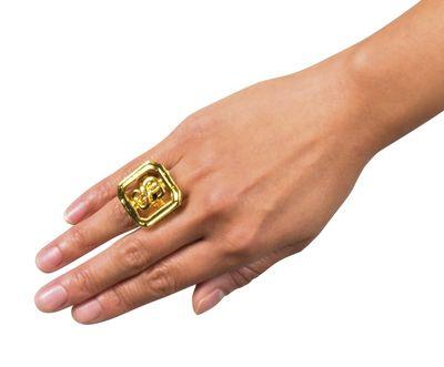 Gouden zegel-ring dollar