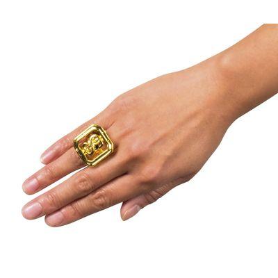 Foto van Gouden zegel-ring dollar