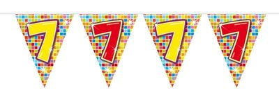 Mini Vlaggenlijn Bday Blocks 7 jaar