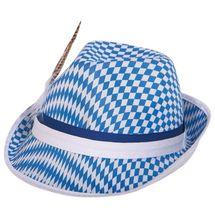 Beierse tiroler hoed - blauw-wit