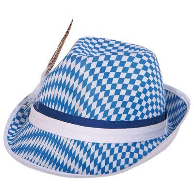 Oktoberfest hoed blauw-wit