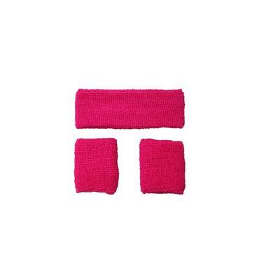 Foto van Neon zweetband hoofd en pols roze