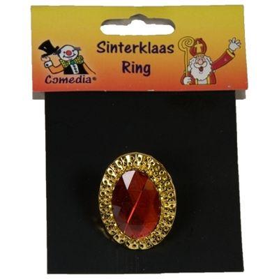 Foto van Sinterklaas ring ovaal verstelbaar