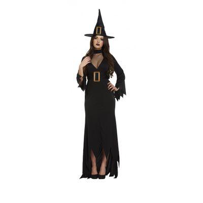 Foto van Heks lange jurk zwart