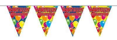 Vlaggenlijn Balloons Hartelijk Gefeliciteerd