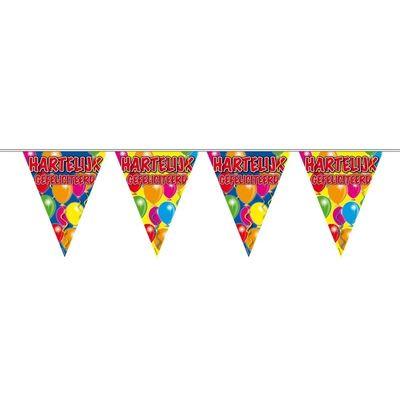 Foto van Vlaggenlijn Balloons Hartelijk Gefeliciteerd