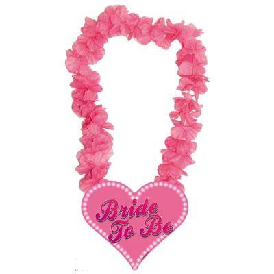 Hawai krans Roze Bride to Be/stk