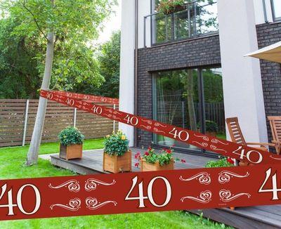 Afzetlint jubileum 40 jaar / stk