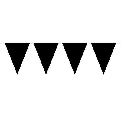 Vlaggenlijn Effen Zwart /10mtr