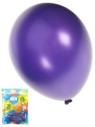 Kwaliteitsballon metallic paars per 50 (Ø 14 inch / 36 cm)