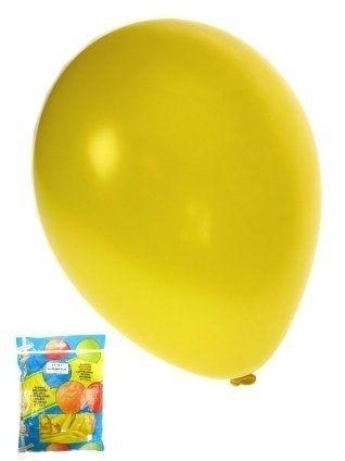 Kwaliteitsballon metallic geel per 50 (Ø 14 inch / 36 cm)