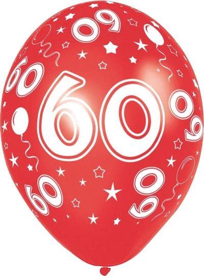 Ballonnen 60 jaar 8 stuks