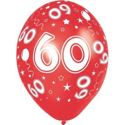 Foto van Ballonnen 60 jaar 8 stuks