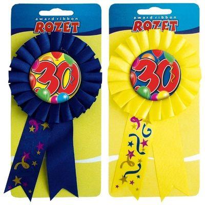 Rozet ballon 30 jaar/stk