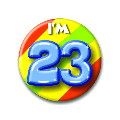 Foto van Button 23 jaar