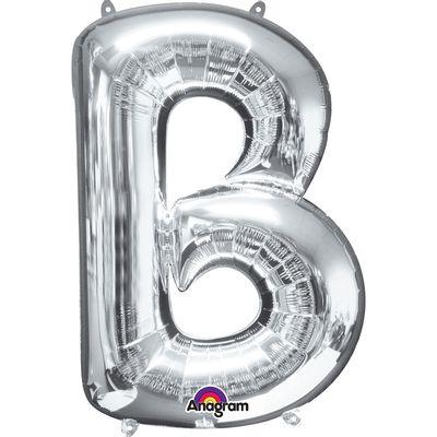 Foto van Folieballon letter B zilver 40cm