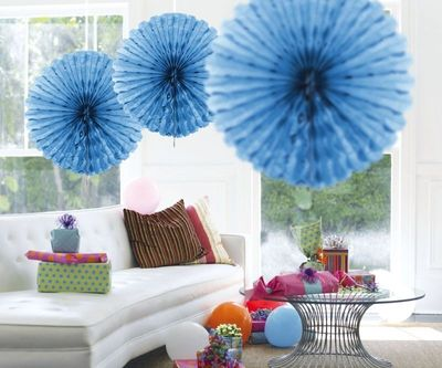 Honeycomb fan Baby Blauw 45cm