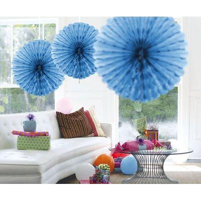 Foto van Honeycomb fan Baby Blauw 45cm