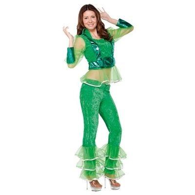 Disco kostuum groen