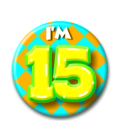 Button 15 jaar