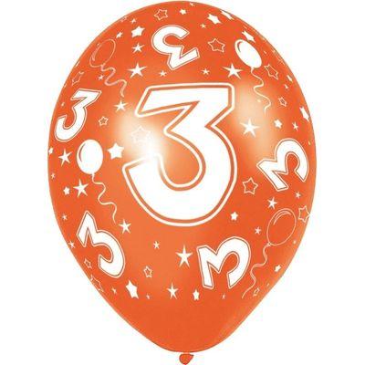 Ballonnen 5 stuks 3 jaar