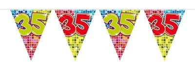 Mini Vlaggenlijn Bday Blocks 35 jaar