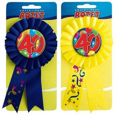Rozet ballon 40 jaar/stk