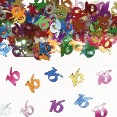 Foto van Tafel Confetti 16 jaar